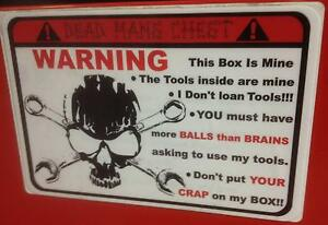 Red Deadmans Chest Overlay Decal Matco Tool Box Cart Mechanic Socket