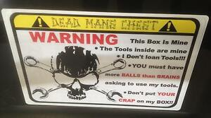 Yellow Deadmans Chest Overlay Decal Snap On Tool Box Cart Krl