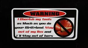 2 For 1 I Cherish My Tools 2 Decal Snap On Tool Box Cart Krl Classic