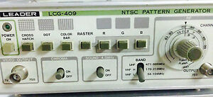 Leader Electronics Model Lcg 409 Ntsc Pattern Generator Lcg409