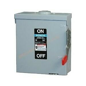 Siemens Gf321nr 30a 240v 3p 4 wire Fusible General Duty Safety Switch Nema 3r