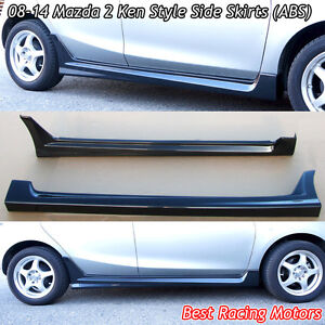 K Style Side Skirts abs Fits 08 14 Mazda 2