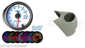 99 02 Ford Super Duty Glowshift White 7 Color 2 Tachometer Gauge