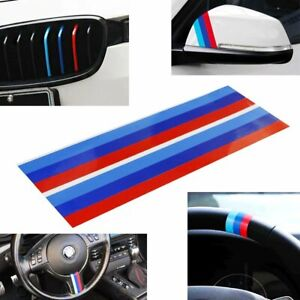 2pc 9 M colored Stripe Decal Stickers For Bmw Exterior Or Interior Decoration
