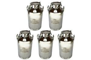 5x Temco 50liter 13 25 Gallon Stainless Steel Milk Can Wine Pail Bucket Tote Jug
