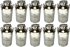 10x Temco 50liter 13 3 Gallon Stainless Steel Milk Can Wine Pail Bucket Tote Jug