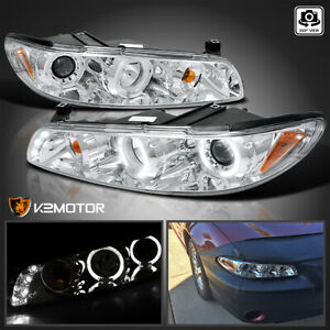 1997 2003 Pontiac Grand Prix Chrome Led Halo Projector Headlights