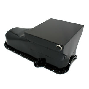 Black Painted 80 85 Sbc Drag Style Race 7qt Oil Pan 305 350 Chevy Small Block