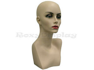 Female Mannequin Head Bust Wig Hat Jewelry Display Skin md ph17