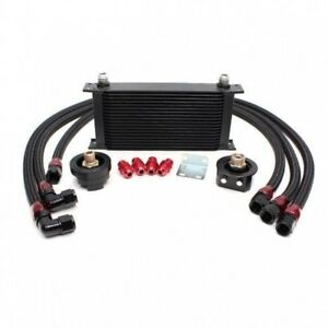 Gsp 19 Row Turbo Oil Cooler W Relocation Kit 1g 2g Gst Evo8 Evo9 4g63 Gsx Mr