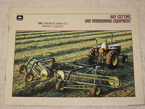 1986 John Deere Hay Cutting And Windrowing Equipment 32 Page Brochure