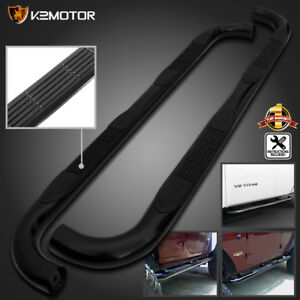 97 03 Ford F150 250 Super Cab 3 Black S S Running Boards Side Step Nerf Bar