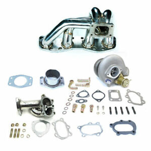 Td05 Stainless Steel Manifold Turbo Charger Kit Fit 180sx Sil80 Ca18 Ca18det