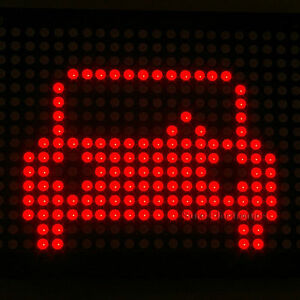 2pcs 2416 24x16 Red Led 5mm Dot Matrix Display Information Board Ht1632c