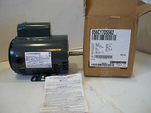 New Marathon Electric 3 4hp General Purpose Single Phase Motor 1725 Rpm Pump