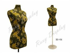 Female Size 6 8 Flower Texture Cover Body Form Mannequin jf f6 8w f03 bs 04