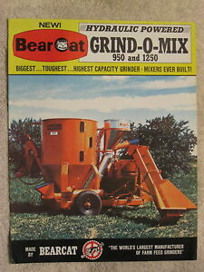 1969 Bearcat 950 1250 Grind o mix Feed Grinder 8 Page Brochure Nice