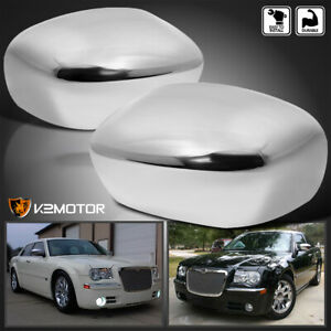 For 2005 2010 Chrysler 300 300c Magnum Charger Chrome Mirror Covers Left right