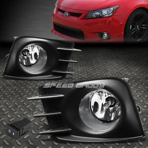 For 11 13 Scion Tc Clear Lens Bumper Fog Light Replacement Lamp W Bezel Switch