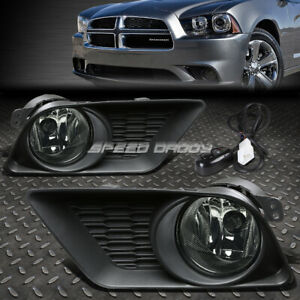 For 11 14 Dodge Charger Smoked Lens Bumper Driving Fog Light Lamp W bezel switch