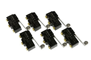 6 Lot Temco Heavy Duty 15a Micro Limit Switch Roller Lever Arm Spdt Snap Action