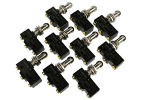 10 Lot Temco Heavy Duty 15a Micro Limit Switch Roller Plunger Spdt Snap Action