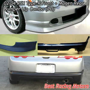 Tr Style Front Mu Gen Style Rear Bumper Lip Urethane Fit 02 04 Acura Rsx 2dr