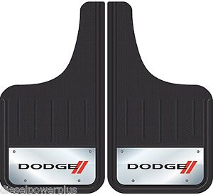 2 Dodge Ram Front Truck 12x23 Mud Guards Flaps Mudflap Stainless Pickup Set Pair