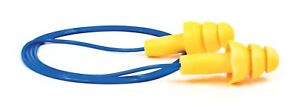 3m 100 Pack 340 4004 Ultra Fit Flanged Corded Ear Plugs