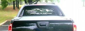 2002 Chevy Avalanche Rear Window Decal Style 2 Graphic Sticker