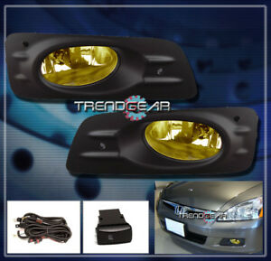 2006 2007 Honda Accord Ex Lx Sedan 4dr Jdm Bumper Yellow Fog Light Lamp bulb Kit