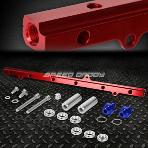 For Jza80 Supra 2jz Gte Red Aluminum Top Feed High Flow Fuel Injector Rail Kit
