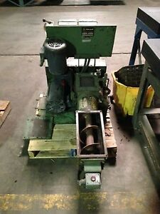 Auger Feed Granulator By Ball Jewell Model Haf 68 S c X Good Condition Two Tl