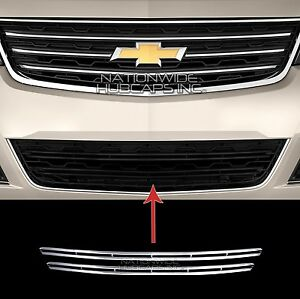 2013 2015 Chevy Traverse Lt Chrome Snap On Grille Overlay Lower Grill Bar Covers