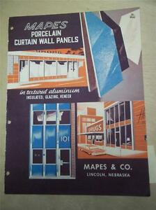 Mapes Co Catalog porcelain Curtain Wall Panels insulated asbestos 1962