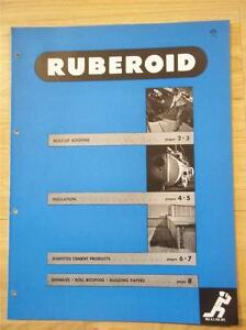 Ruberoid Co Catalog asbestos pipe Insulation paper roofing siding shingles