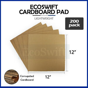 200 12x12 Corrugated Cardboard Pads Inserts Sheet 32 Ect 1 8 Thick 12 X 12