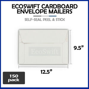 150 12 5 X 9 5 Self Seal White Photo Ship Flats Cardboard Envelope Mailers