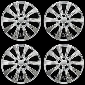 4 Chrome 09 15 Toyota Matrix 16 Wheel Covers Rim Hub Caps With Steel Clips New