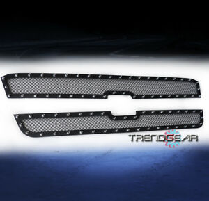 2003 2006 Chevy Avalanche 2005 Silverado 1500 Upper Rivet Stainless Mesh Grille