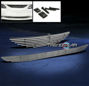 1994 1998 Ford Mustang Upper Lower Bumper Grille Grill 1995 1996 1997 2pcs Combo