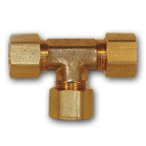 4pcs 1 2 Inch Od Compression Tee Brass Pipe Fitting Npt Thread Soft Copper Water
