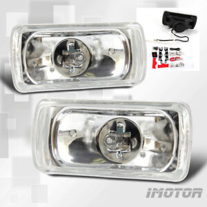 4 06 Chrome Clear Halogen Driving Lights Pair W Switch Wiring Kit