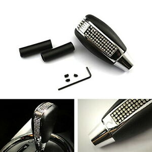 Bling Bling Crystal Rhinestone Leather Shift Knob For Most Car Shifter