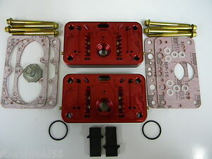 Holley Qft Aed Ccs 750cfm Pro Billet Metering Block Kit 2 Circuit 5 Emulsion Red