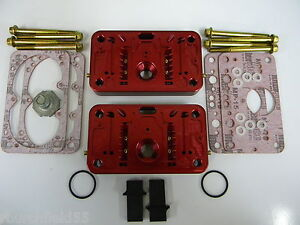 Holley Qft Aed Ccs 850cfm Pro Billet Metering Block Kit 2 Circuit 5 Emulsion Red
