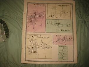 Antique Knowlesville Shelby Oak Orchard Ridgeway Orleans County New York Map