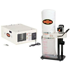 Shop Fox W1690 1 5 Hp 115v 3 speed Air Cleaner Dust Collection Vacuum System
