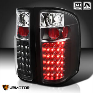 Black 2007 2013 Chevy Silverado 1500 2500 3500hd Led Tail Lights Lamp Left right