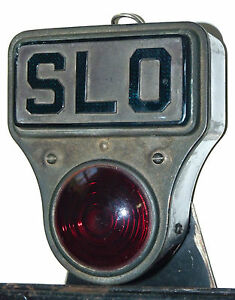 Vtg Antique Slo Tail Lamp Stop Light Slow 1920s Car License Plate Illinois 42